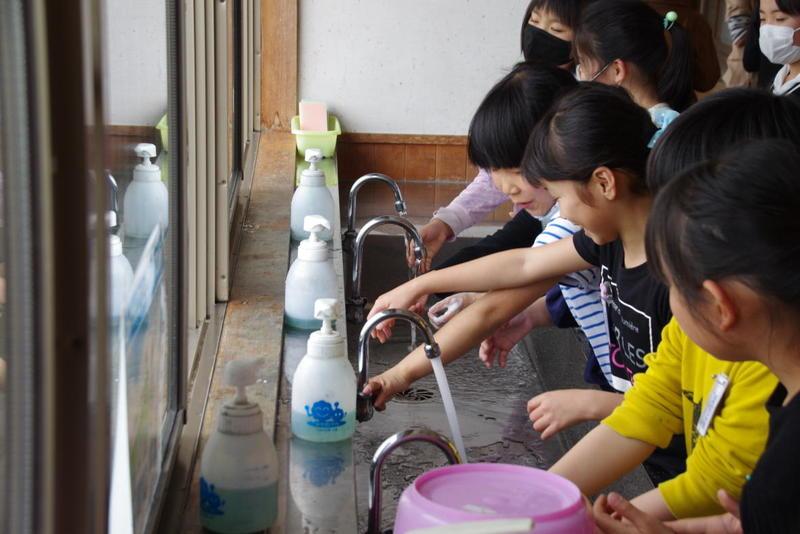 活動後の手洗い